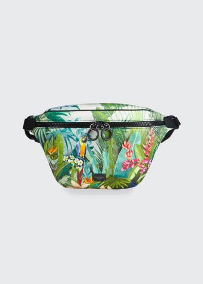 Men's Marsupio Stampato Neoprene Fanny Pack/Belt Bag