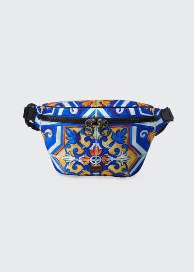 Men's Marsupio Majolica Fanny Pack/Belt Bag