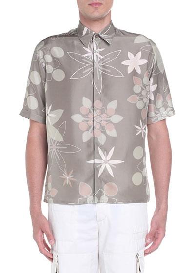 Men's Kaleidoscope Floral Sport Shirt