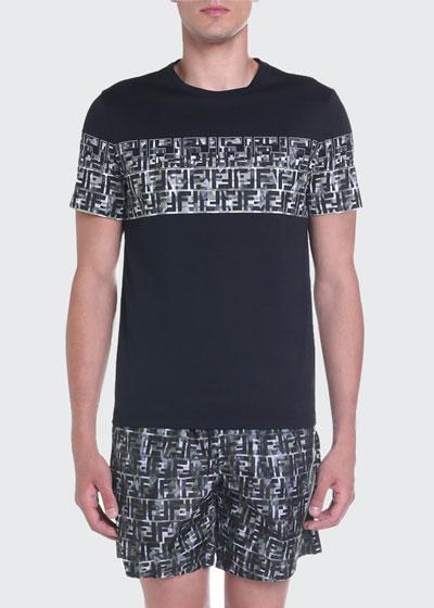 Men's FF Camo-Stripe Graphic T-Shirt