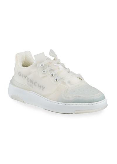 Men's Wing PVC Low-Top Logo Sneakers