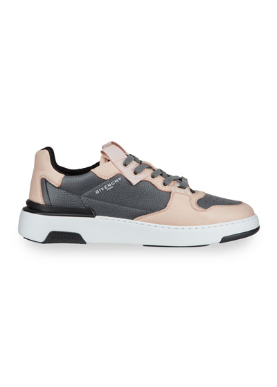 Men's Wing Two-Tone Leather Sneakers