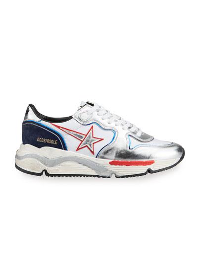 Men's Vintage Metallic Star Running Sneakers