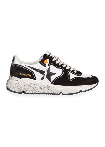 Men's Two-Tone Speckled Star Runner Sneakers
