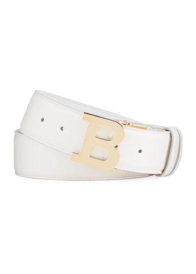 Men's 40mm Leather B-Buckle Belt