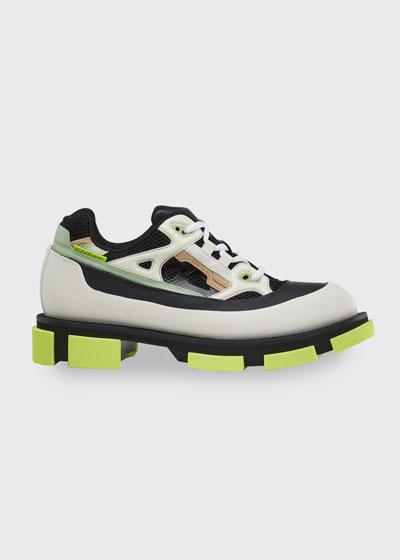 Men's Gao Mixed-Media Chunky Runner Sneakers