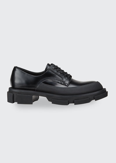 Men's Gao Lug-Sole Leather Derby Shoes