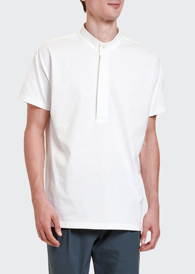 Men's Cabana Button-Placket T-Shirt