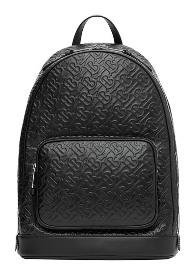 Men's TB Monogram Leather Backpack