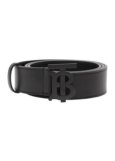 Men's Tonal TB-Buckle Leather Belt