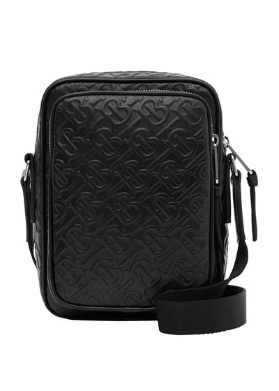 Men's TB Monogram Leather Travel Crossbody Bag