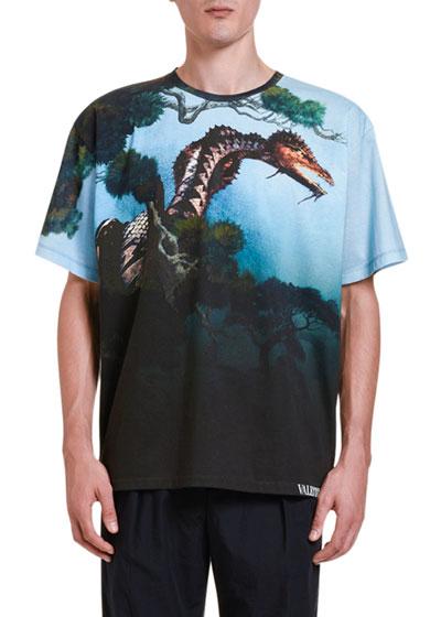 Men's Dragons' Garden Graphic T-Shirt
