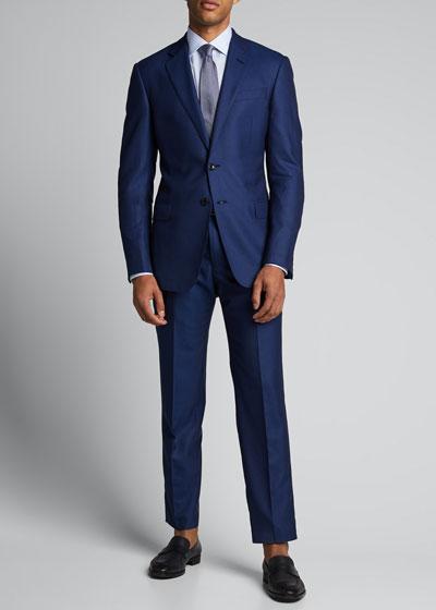 Men's Super 180s Wool Two-Piece Suit