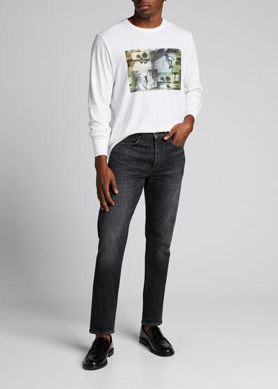 Men's Rainbow Skater Graphic Long-Sleeve T-Shirt