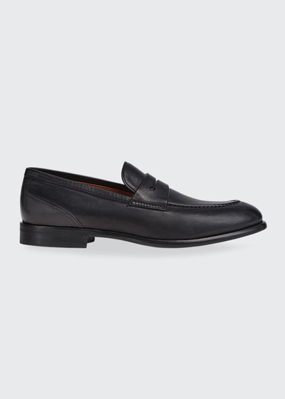 Men's Marcello Leather Penny Loafers