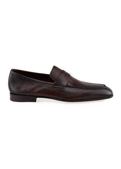 Men's Imam Soft Burnished Leather Penny Loafers