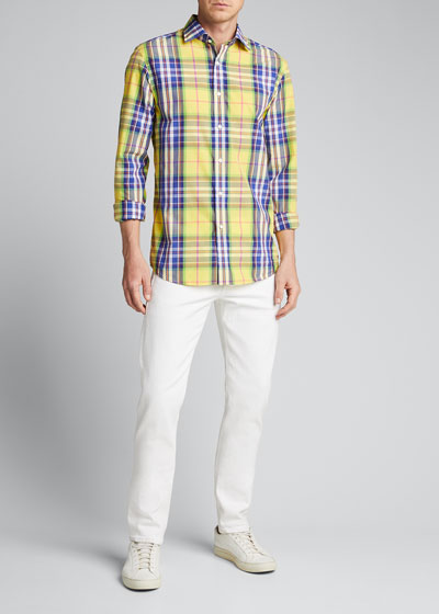 Men's Aston Neon Plaid Sport Shirt