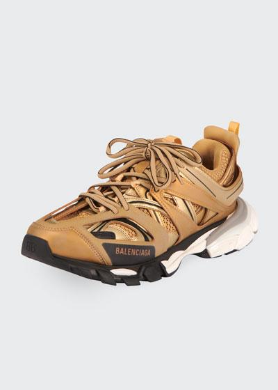 Men's Track Mesh/Nylon Metallic Sneakers