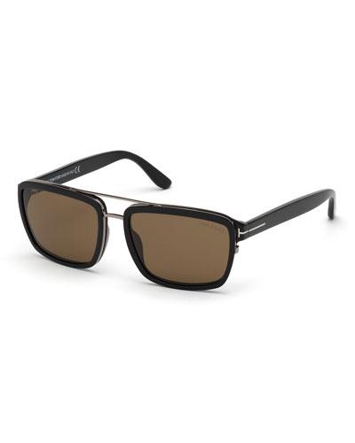 Men's Anders Square Acetate/Metal Sunglasses