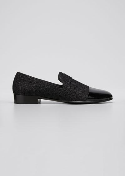 Men's Kilian Pearlized Leather Cap-Toe Loafers