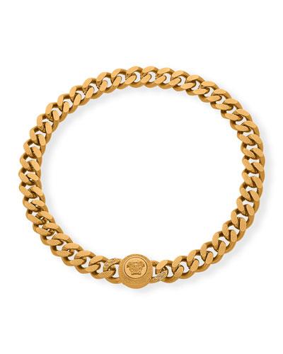 Men's Curb Chain Medusa Head Bracelet