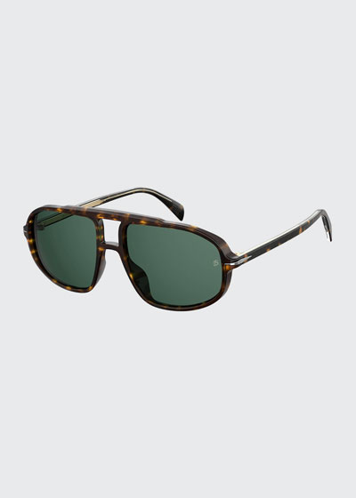 Men's Double-Bridge Aviator Sunglasses