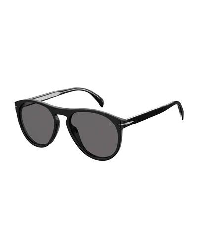 Men's Polarized Round Acetate Sunglasses