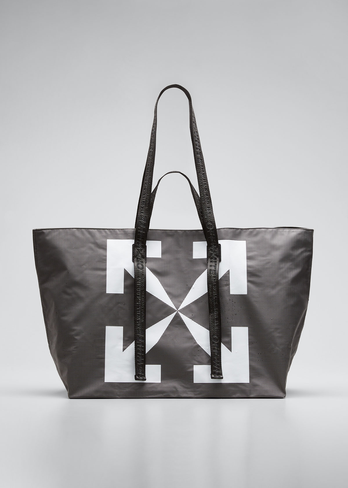 Off-White MEN'S ARROW PVC TOTE BAG