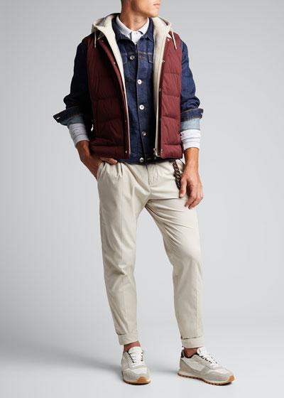 Men's Dark Wash Denim Jacket