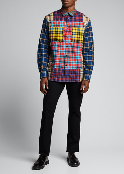 Men's Tindall Multi-Plaid Flannel Shirt