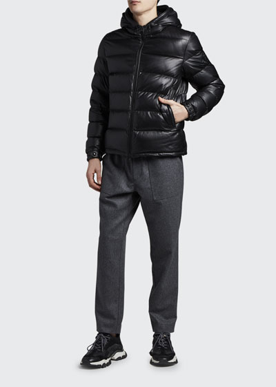 Men's Gebroulaz Quilted Leather Jacket