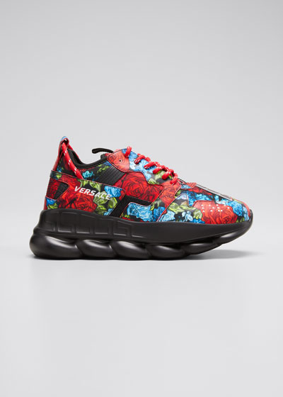 Men's Exclusive Floral Chain Reaction Sneakers