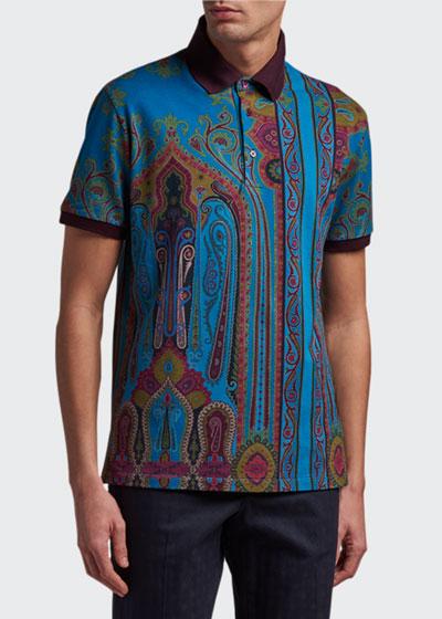 Men's Paisley Polo Shirt