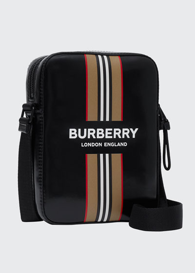 Men's Icon Stripe Logo Crossbody Bag