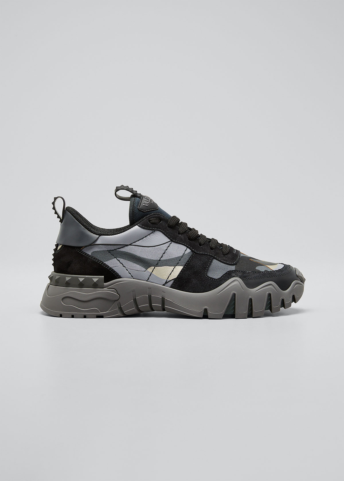 Valentino MEN'S ROCK STUD CAMO-PRINT RUNNER SNEAKERS