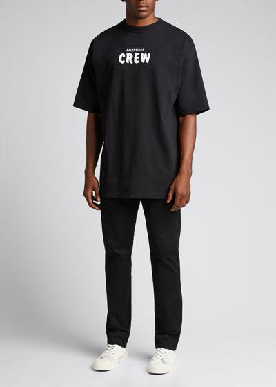 Men's Heavy Jersey Typographic T-Shirt