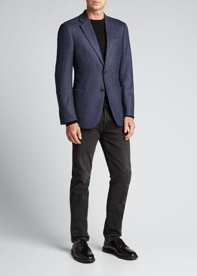 Men's Micro-Pattern Wool Sport Jacket