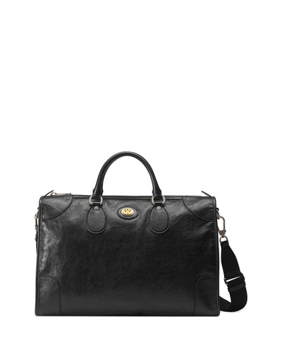 Men's Medium Leather Weekender Bag