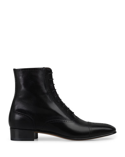Men's Dracma Brogue Leather Ankle Boots