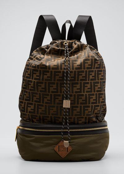 Mens Drawstring Backpack | bergdorfgoodman.com