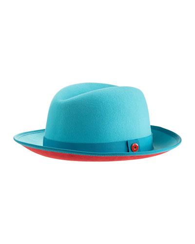 Men's King Wool Fedora Hat