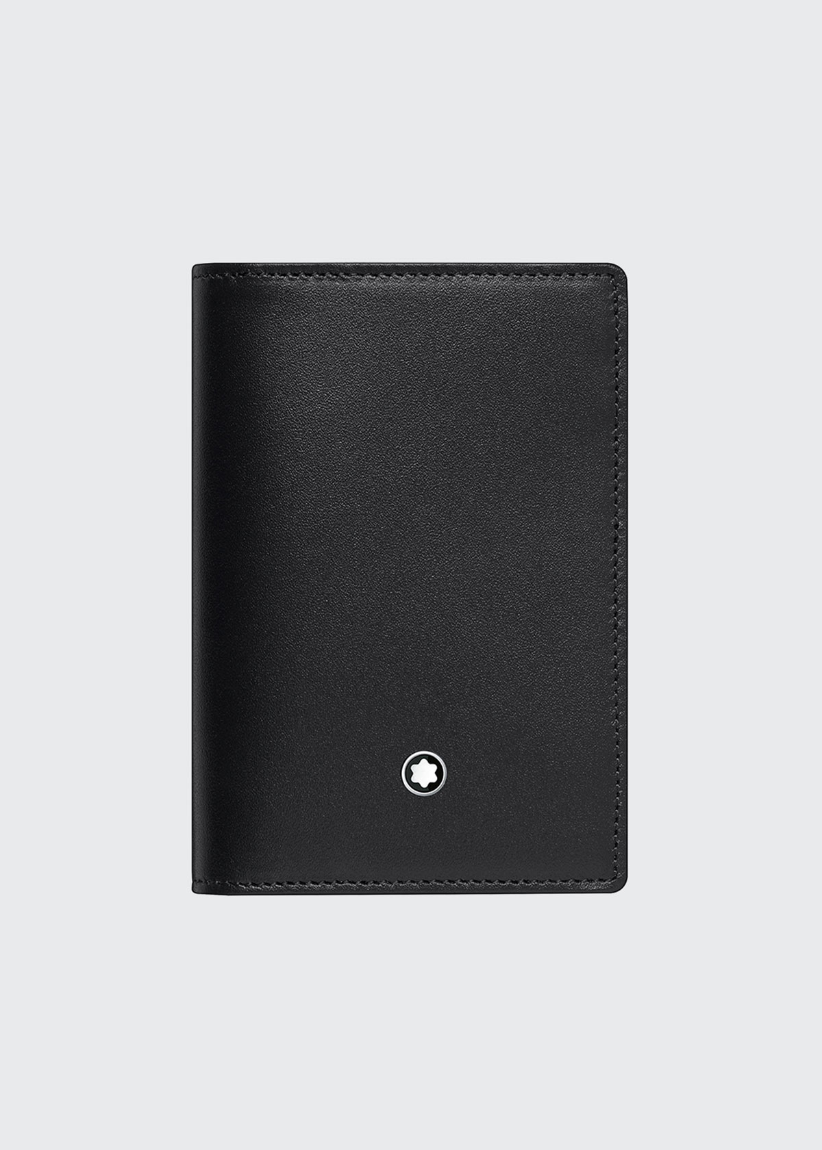 Montblanc MEN'S MEISTERSTUCK GUSSETED LEATHER BUSINESS CARD HOLDER