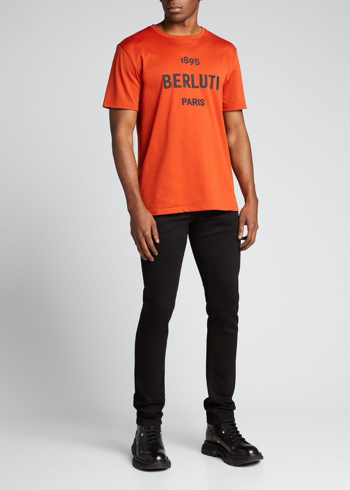 Berluti MEN'S 1895 LOGO T-SHIRT