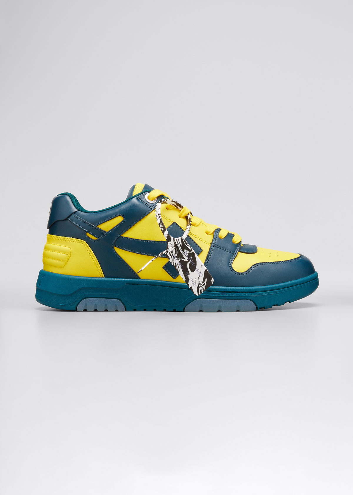 Off-White Leathers MEN'S OUT OF OFFICE BICOLOR LEATHER SNEAKERS