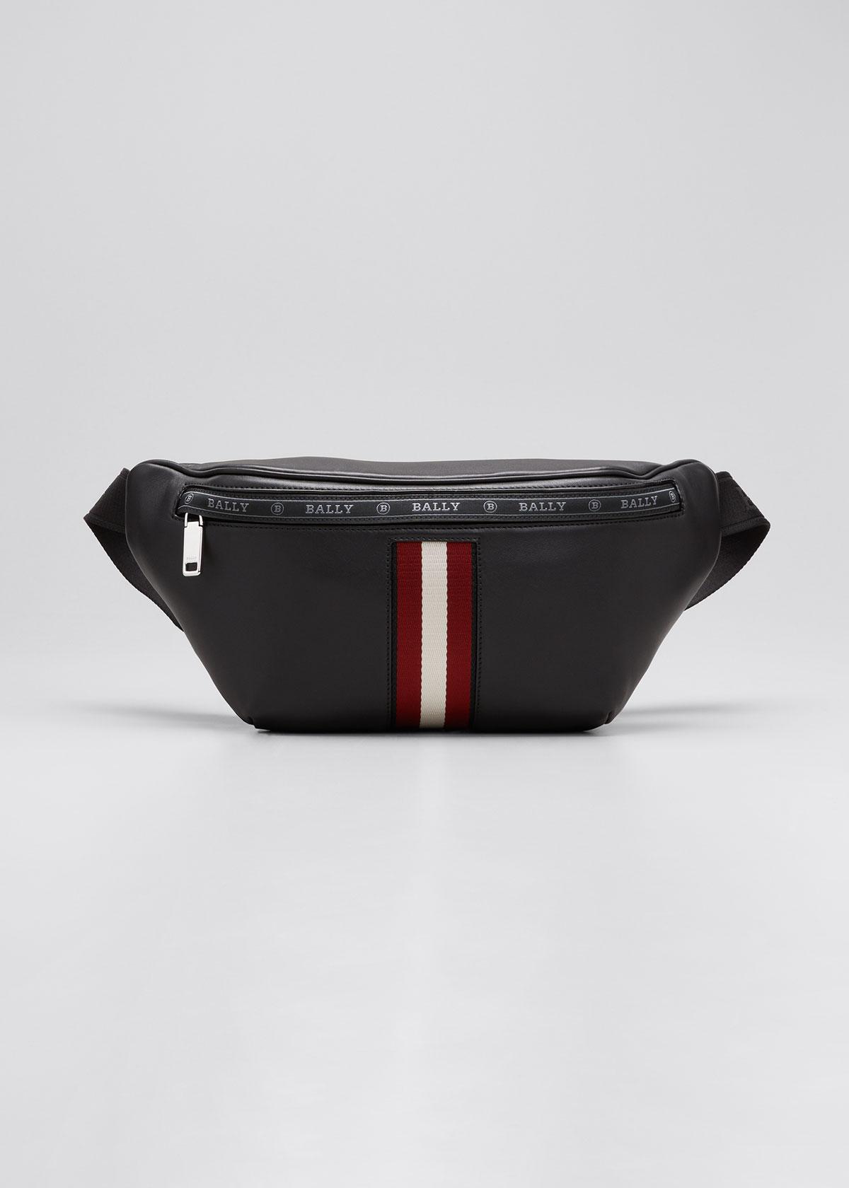 Bally Men's Trainspotting Leather Belt Bag In Black