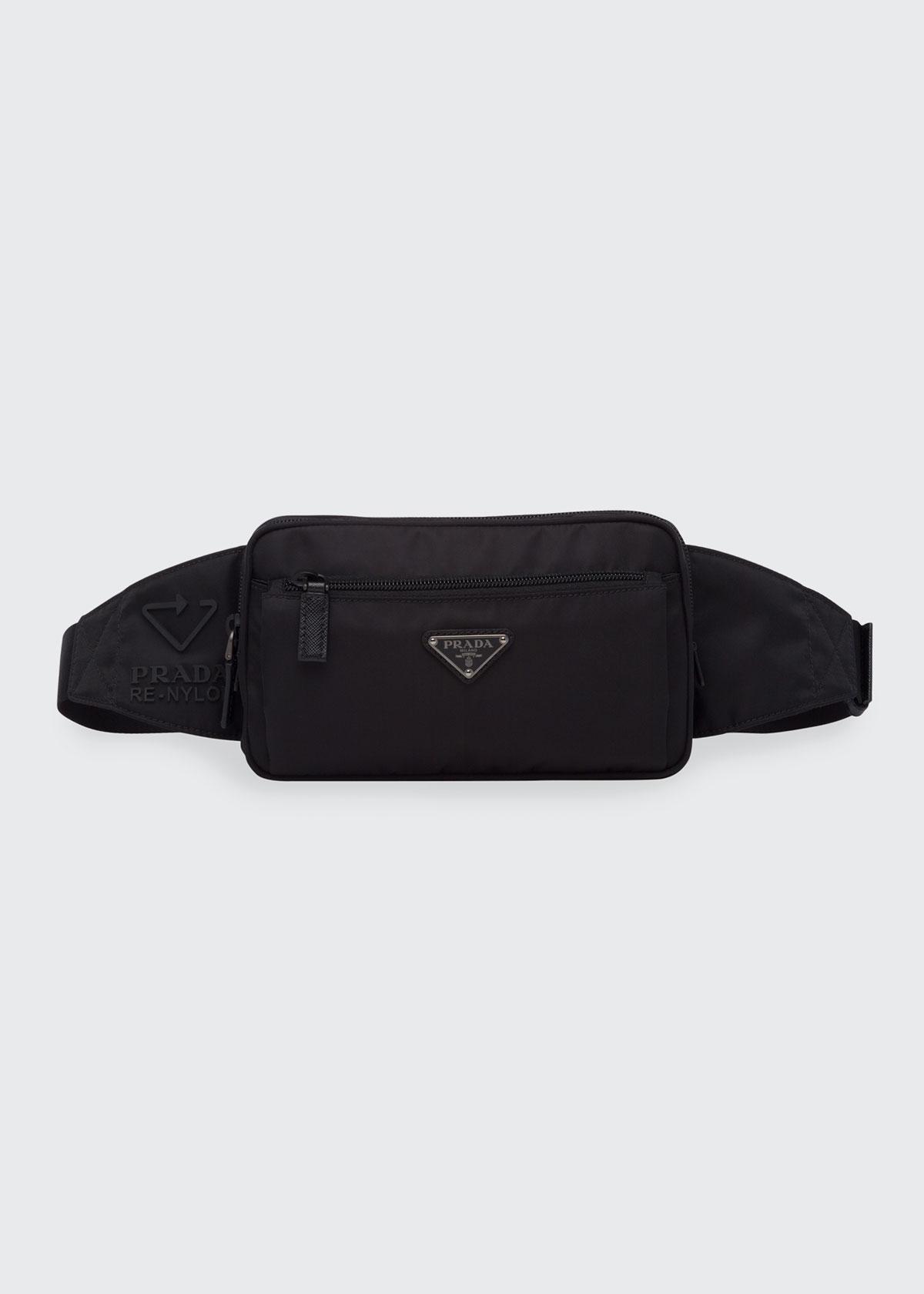Prada Belt bags MEN'S FLAT SQUARE RE-NYLON BELT BAG