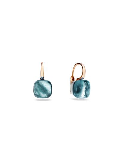 Nudo 18k Rose Gold Blue Topaz Earrings