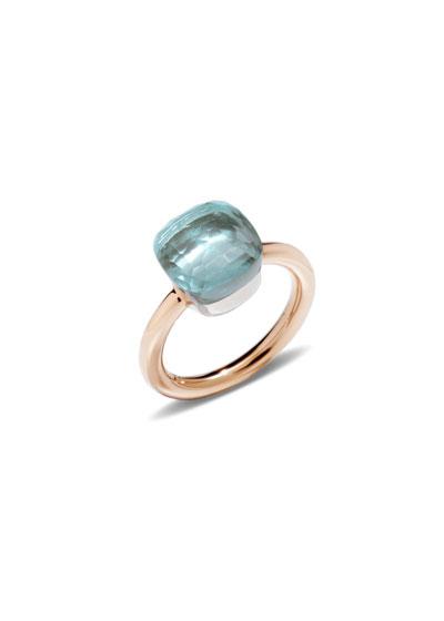 Nudo Rose Gold & Blue Topaz Ring