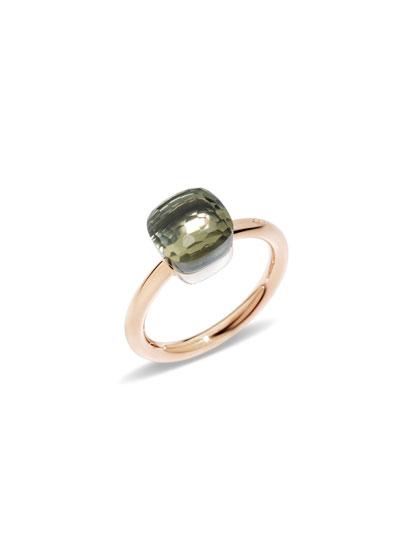 Nudo Mini Rose Gold & Prasiolite Ring