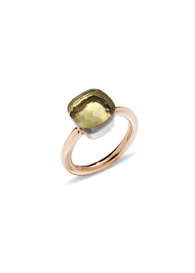 Nudo 18k Rose Gold Lemon Quartz Ring